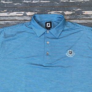 🔥 FootJoy men's XL blue golf polo shirt EUC